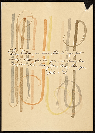 [Gio Ponti letter to Esther McCoy]