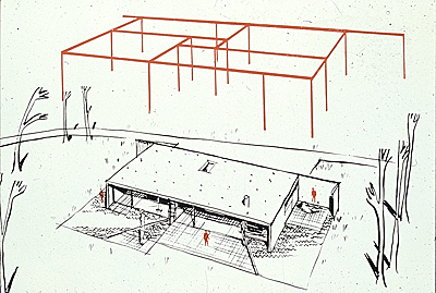 Entenza, Case Study House, Steel Frame/stucco