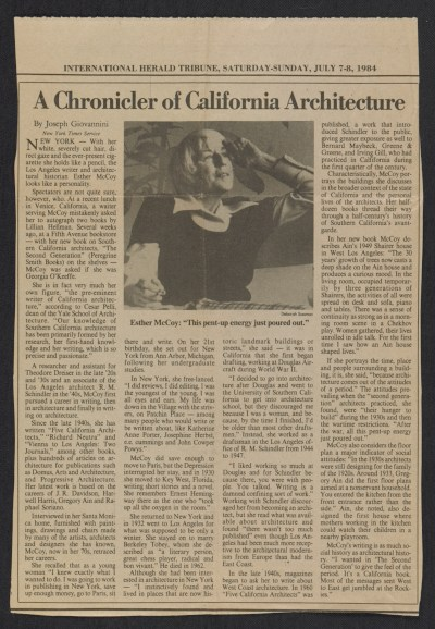 A chronicler of California architecture