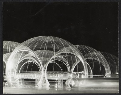 Detail of the model of an inflatable structure submitted to the Italian Pavilion for the 1967 World's Fair, Osaka