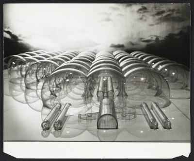 Model of an inflatable structure submitted to the Italian Pavilion for the 1967 World's Fair, Osaka. Design by Paolo Lomazzi, Donato D'Urbino, and Jonathan De Pas.