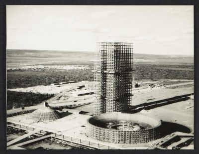 [Aerial view of the Square of Three Powers 