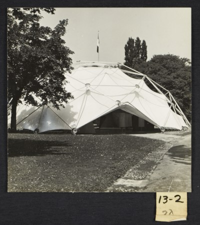 [Buckminster Fuller's geodesic dome at the Milan Triennale]