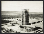Aerial view of the Square of Three Powers 