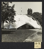 [Buckminster Fuller's geodesic dome at the Milan Triennale ]