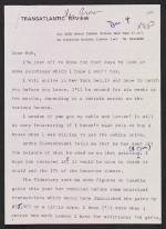 Joseph F. McCrindle letter to unidentified recipient