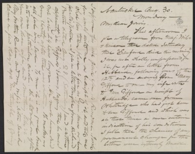 [Eastman Johnson letter to Jervis McEntee]