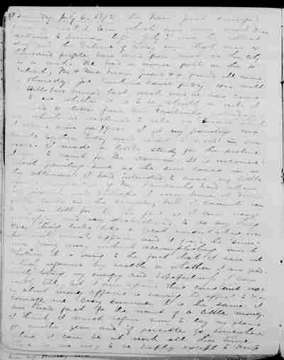 [Diary Entry for July 6, 1872]