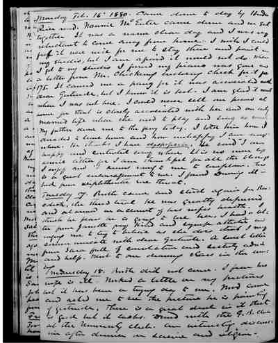 [Diary Entry for February 18, 1880]