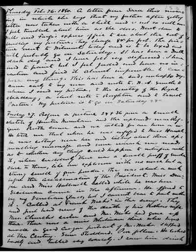 [Diary Entry for February 27, 1880]
