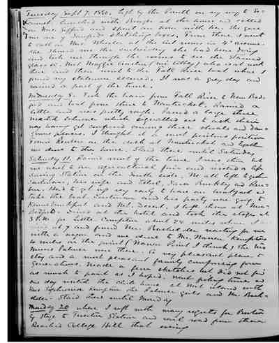 [Diary Entry for September 7, 1880]