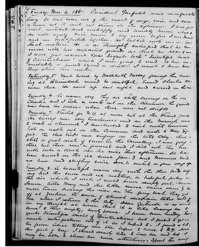 [Diary Entry for March 6, 1881]