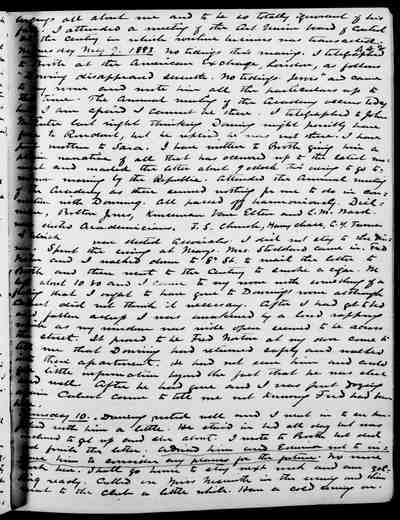 [Diary Entry for May 10, 1883]