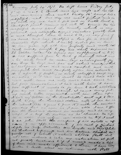 [Diary Entry for July 20, 1875]
