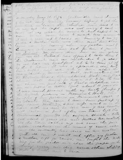 [Diary Entry for May 31, 1876]