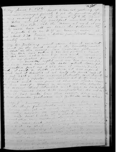 [Diary Entry for June 4, 1876]