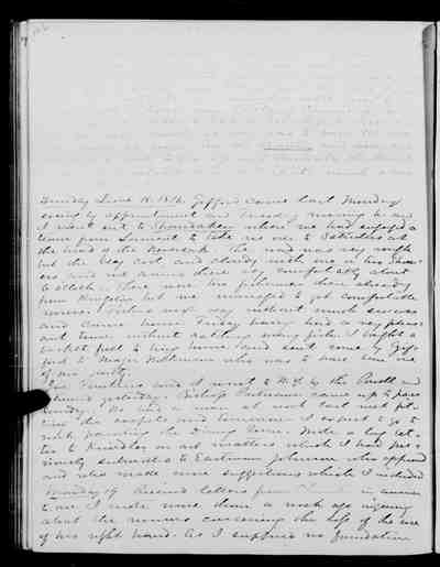 [Diary Entry for June 18, 1876]