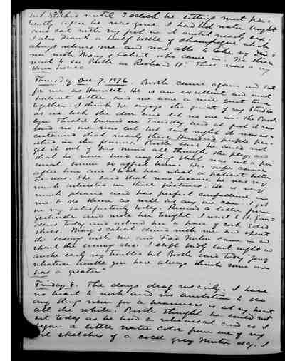[Diary Entry for December 8, 1876]