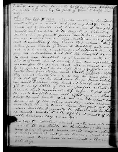 [Diary Entry for February 8, 1878]