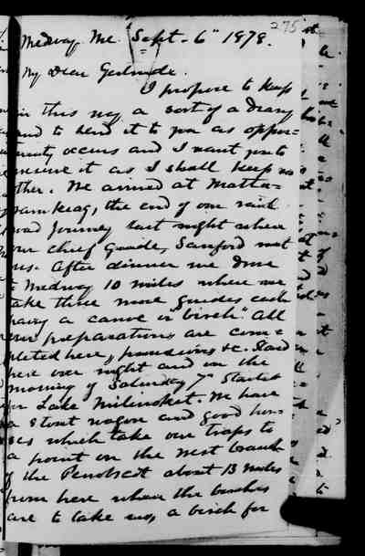 [Diary Entry for September 6, 1878]