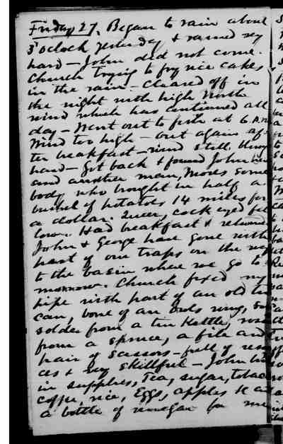 [Diary Entry for September 27, 1878]