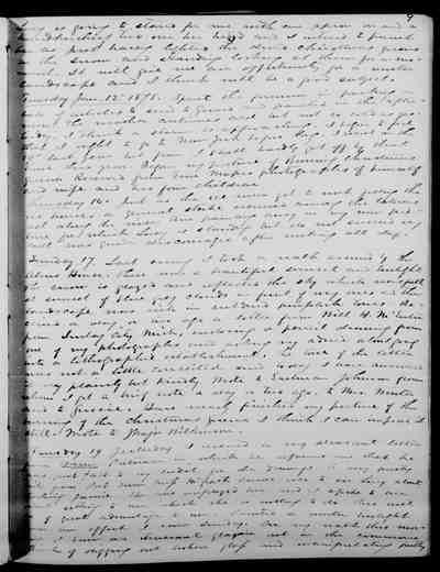 [Diary Entry for January 11, 1875]