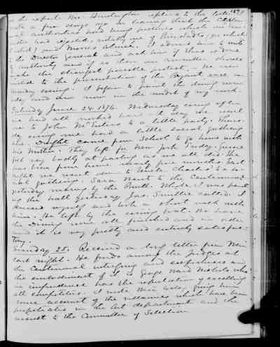 [Diary Entry for June 19, 1876]