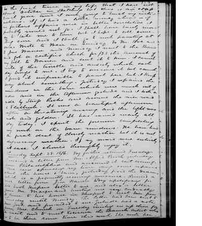 [Diary Entry for September 26, 1876]