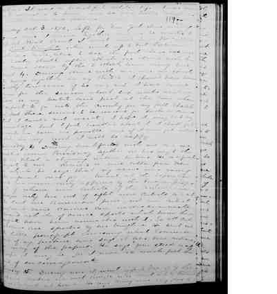 [Diary Entry for October 1, 1876]