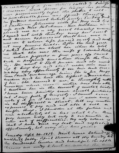 [Diary Entry for April 27, 1878]