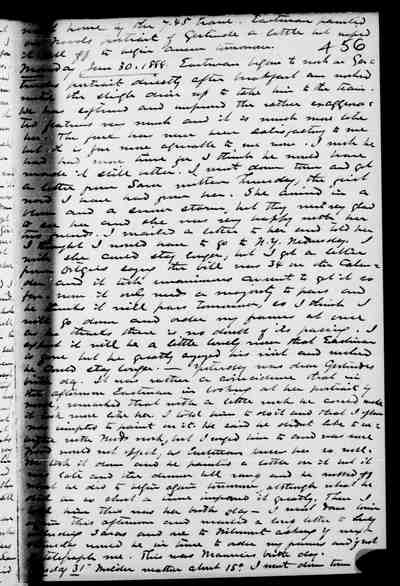 [Diary Entry for January 29, 1888]