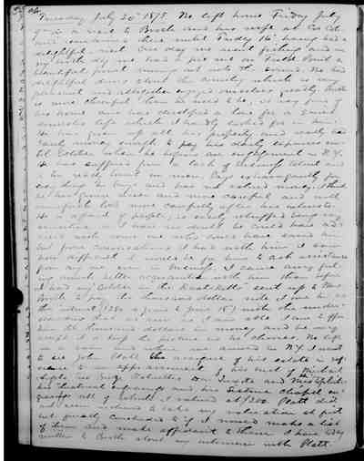 [Diary Entry for July 26, 1875]