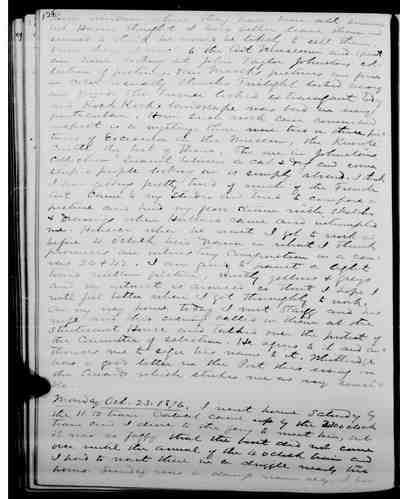 [Diary Entry for October 24, 1876]
