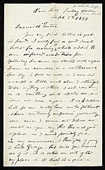 Worthington Whittredge letter to Jervis McEntee