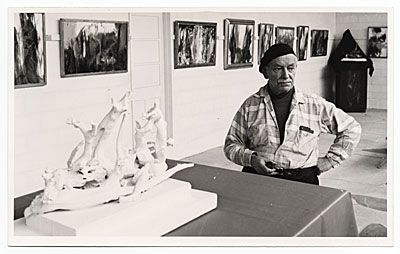 [Joseph Meierhans in his Gallery]