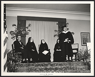 [Hildreth Meière receiving her honorary degree from Manhattanville College]