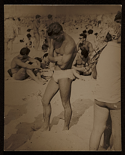 unidentified man on a beach