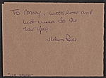 [William Thon Christmas card to Mary Gruskin verso 2]
