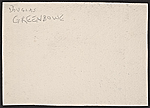 [F. Douglas Greenbowe Christmas card to unidentified recipient verso 1]