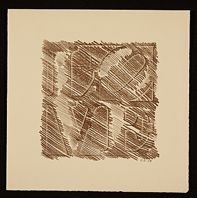 Robert Indiana greeting card to Dorothy C. Miller