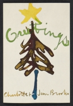 James Brooks Christmas card to Dorothy Canning Miller