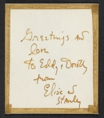 [Elise Asher Christmas card to Dorothy Canning Miller verso 1]