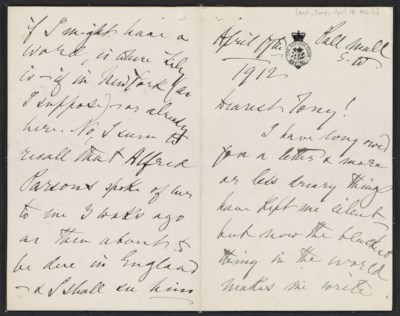[Henry James letter to unknown recipient]