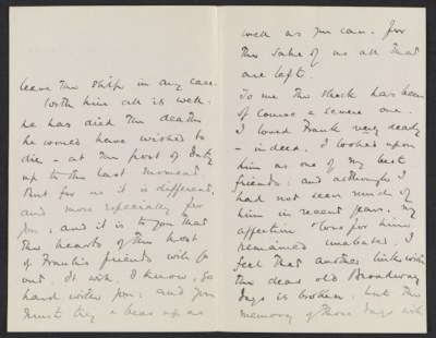 Frederick Huth Jackson letter to Lily Millet