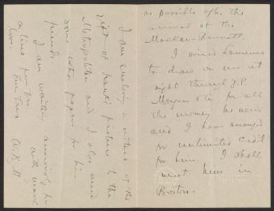 Unidentified sender letter to Lily Millet
