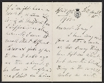 Henry James letter to unknown recipient