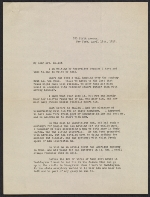 Algernon S. Frissell letter to Lily Millet