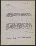 Richard McDermott Miller letter to Albert Hise, Massilon, Oh.