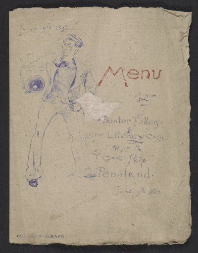 Mariano Fortuny birthday dinner menu