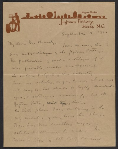 Jacques Busbee letter to Mr. Moody